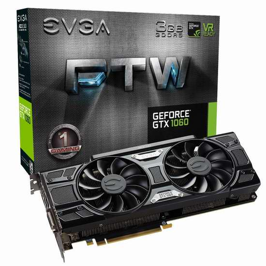 金盒头条:历史新低!EVGA GeForce GTX 1060 3GB FTW 游戏显卡 269.99加元限时特卖并包邮!