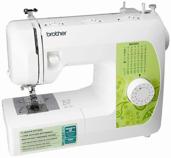 Brother BM2800 电动缝纫机 133.47加元限时特卖并包邮!