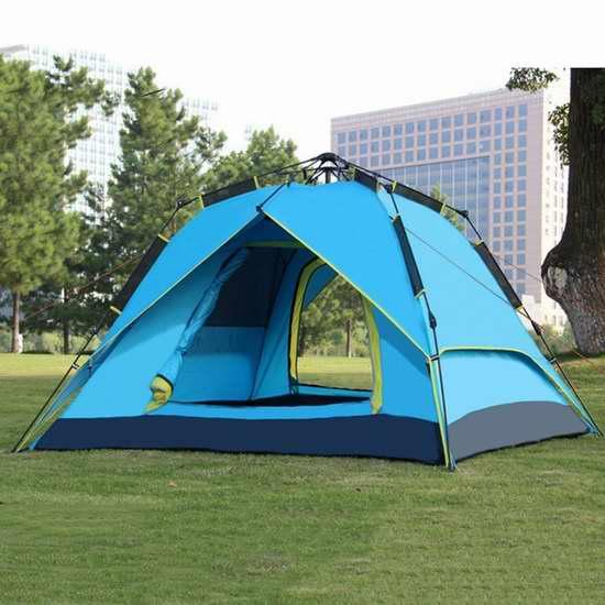 历史新低!RioRand 三合一自动液压 家庭露营帐篷 97.75加元限时特卖并包邮!三色可选!