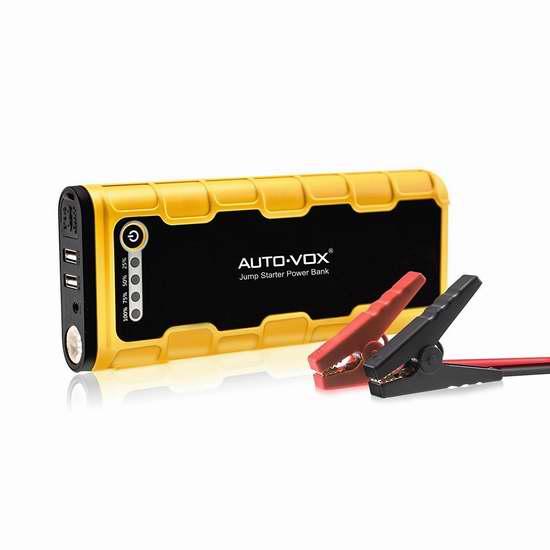 AUTO-VOX JSPB-P1 600A 18000mAh 便携式移动电源/充电宝/手电筒/汽车电瓶紧急启动电源 103.99加元限量特卖并包邮!