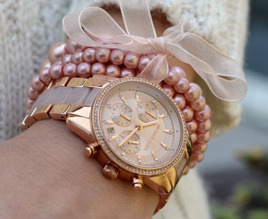 历史新低!Michael Kors MK6307 女士时尚玫瑰金三眼石英腕表 188.96加元限时特卖并包邮!