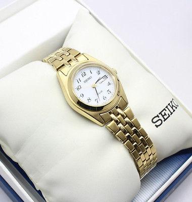 历史新低!Seiko 精工 SUT118 女士金色太阳能腕表 110.05加元限时特卖并包邮!