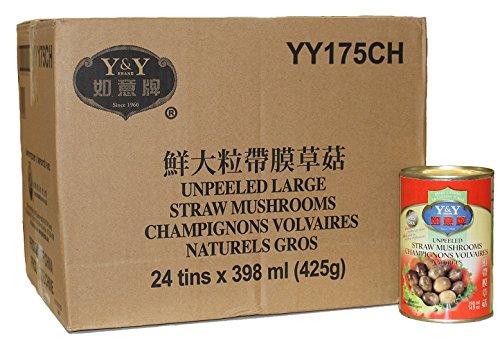 历史新低!Y&Y 如意牌 YY175CH 鲜大粒带膜草菇罐头24听装 23.41加元限时特卖!