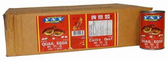 历史新低! Y&Y 如意牌 YY188 鹌鹑蛋罐头(24听 10.22公斤) 43.78加元限时特卖并包邮!