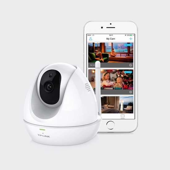 历史最低价!TP-Link TL-NC450 室内/室外 720P高清夜视网络摄像机5.6折 89.99加元包邮!