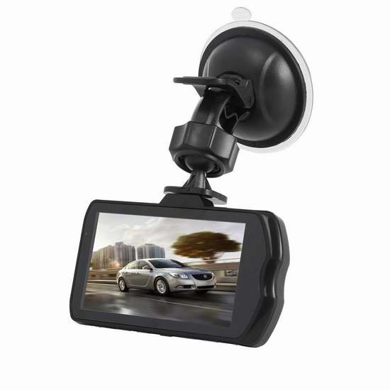 LESHP 3英寸1080P全高清广角夜视行车记录仪 59.49加元限量特卖并包邮!