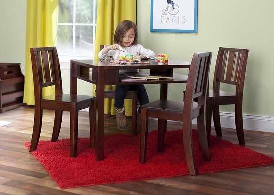 历史新低!Delta Children 儿童木质桌椅5件套 135.99加元包邮!