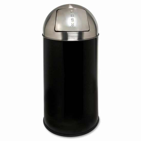 历史新低!Genuine Joe 12加仑经典圆顶推式垃圾桶1.6折 24.38-25加元清仓!两色可选!