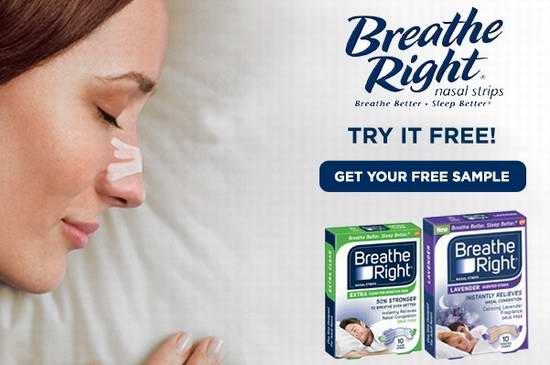 免费申请 Breathe Right 鼻舒乐 Nasal 鼻塞通气呼吸辅助贴/止鼾贴 试用装!