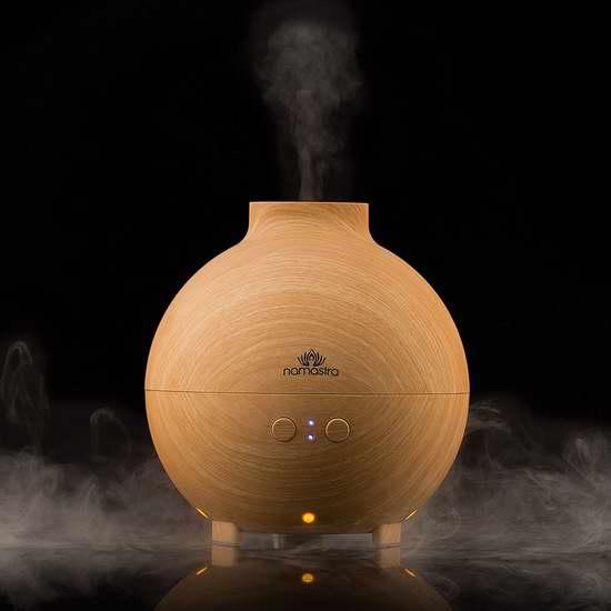 Namastra 600毫升 超声波香薰/精油雾化加湿器 29.79加元限量特卖并包邮!