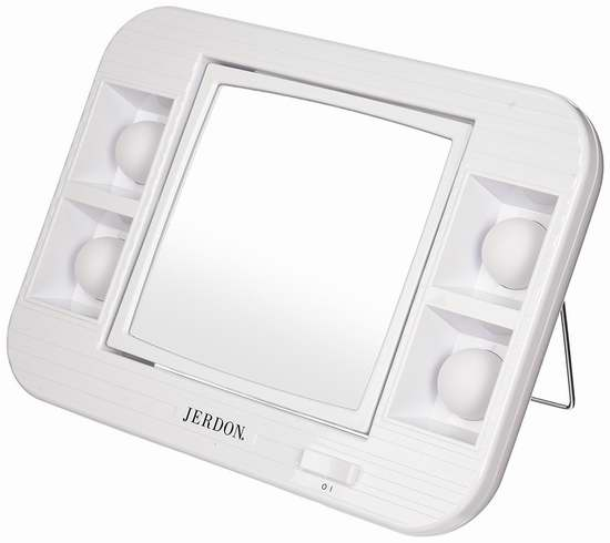 Jerdon LED照明5倍放大双面化妆镜4折 20.98加元限时特卖!