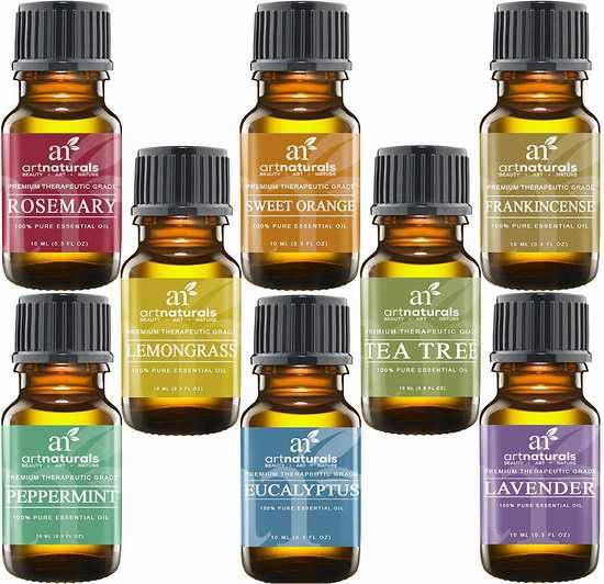 ArtNaturals 理疗级纯天然香薰精油8件套 24.95加元特卖!
