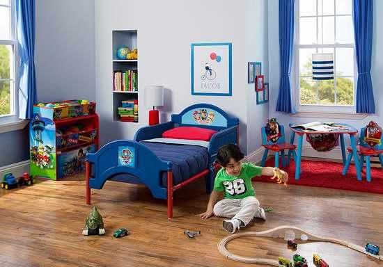 历史新低!Delta Children Nick Jr. 狗狗巡逻队 卡通儿童床6.3折 63.97加元限时特卖并包邮!