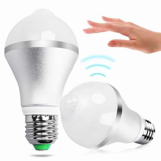 Minger 9瓦运动感应LED节能灯 16.99加元限量特卖!