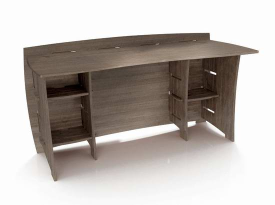 历史新低!Legare Furniture 1.52米灰色拼接式办公桌/书桌3.2折 125.63加元限时特卖并包邮!