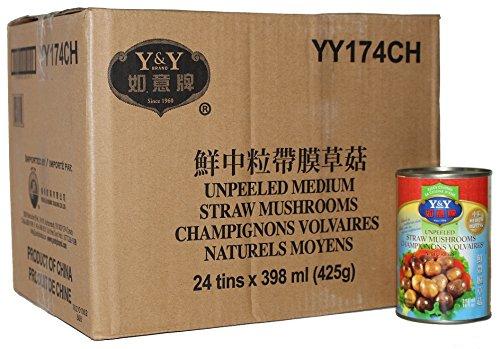 历史新低!Y&Y 如意牌 YY174CH 鲜中粒带膜草菇罐头24听装 26.06加元限时特卖!