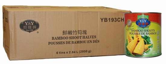 历史新低!Y&Y 如意牌 YB193CH 鲜嫩竹筍块 罐头(6听 x 2.84L装) 21.13加元限时特卖!