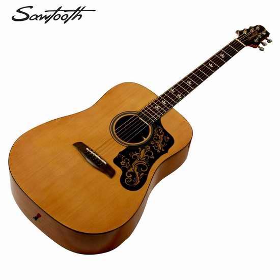 历史新低!Sawtooth ST-ADN-D-KIT-1 全尺寸原声吉他3.3折 79.99 加元限时特卖并包邮!