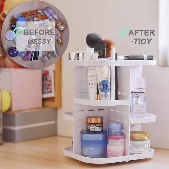 Becoyou 亚力克360度旋转 化妆品收纳盒 23.99加元限量特卖!
