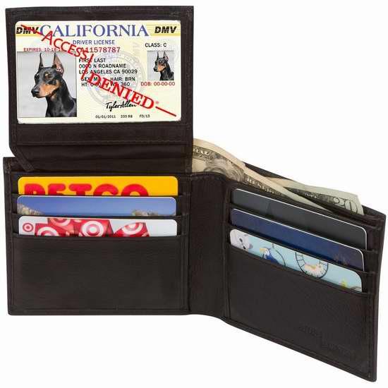 Access Denied RFID 防盗男士真皮钱包 19.99加元限量特卖并包邮!12色可选!