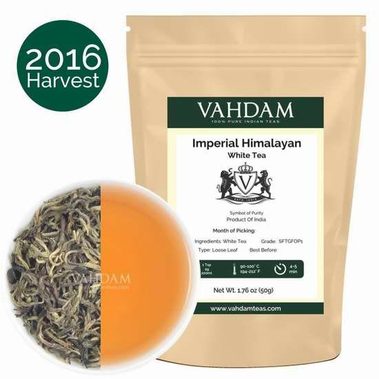 Vahdam Teas 喜马拉雅山白茶1.73盎司 9.95加元限量特卖!