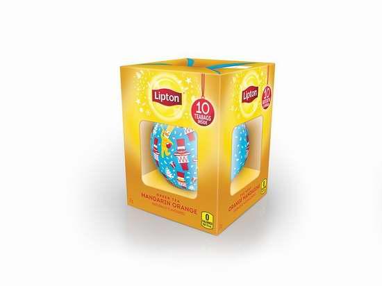 Lipton Bauble Gift 橘子绿茶 10袋装1.9折 1.5加元限时清仓!