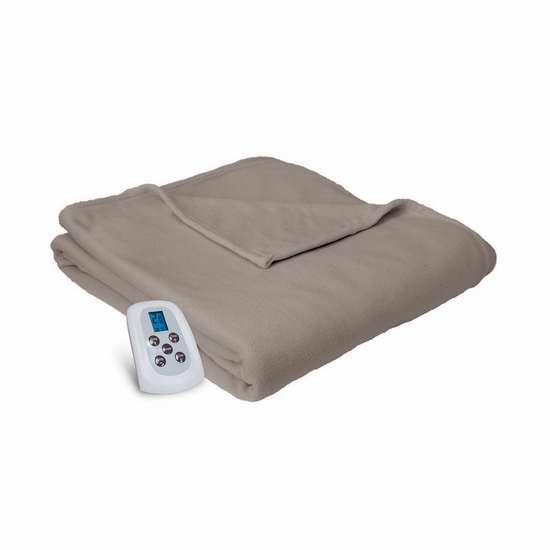 历史新低!Serta Brushed Microfleece 可编程双遥控电热毯 103.27加元限时特卖并包邮!两色可选!