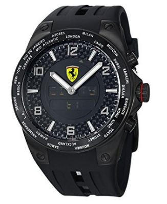 历史新低!Ferrari 法拉利 FE05IPBFC 男士世界时间 数字/模拟 时尚腕表/手表1.8折 175.29加元限时清仓并包邮!