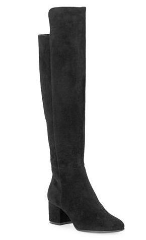 424 FIFTH Emyle 麂皮过膝靴 152.49加元,原价 299加元,包邮