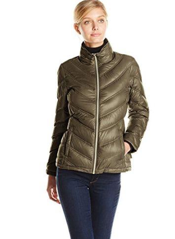 Calvin Klein 女士轻薄雪佛龙夹克 35.19加元(xxs码),原价 260加元
