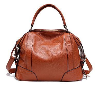 ZENTEII 女士真皮手提包 55.25加元限量特卖,原价 106加元,包邮