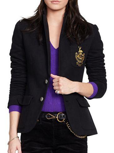 POLO RALPH LAUREN Custom 修身羊毛混纺外套 206.5加元,原价 295加元,包邮