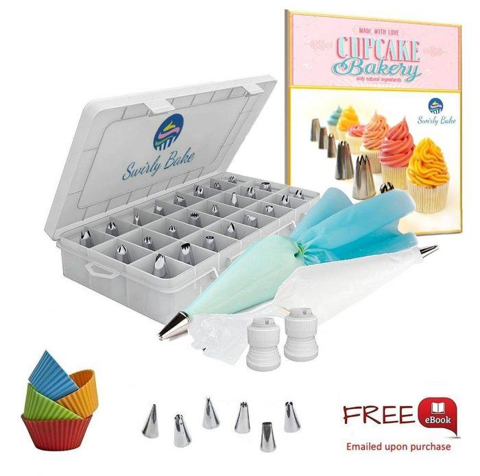 Swirly Bake 50件蛋糕装饰工具 16.14加元限量特卖,原价 21.85加元