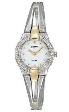 历史新低!Seiko 日本精工 SUP206 女士时尚 施华洛世奇水晶 光动能双色腕表5.1折 111.83加元限时特卖并包邮!