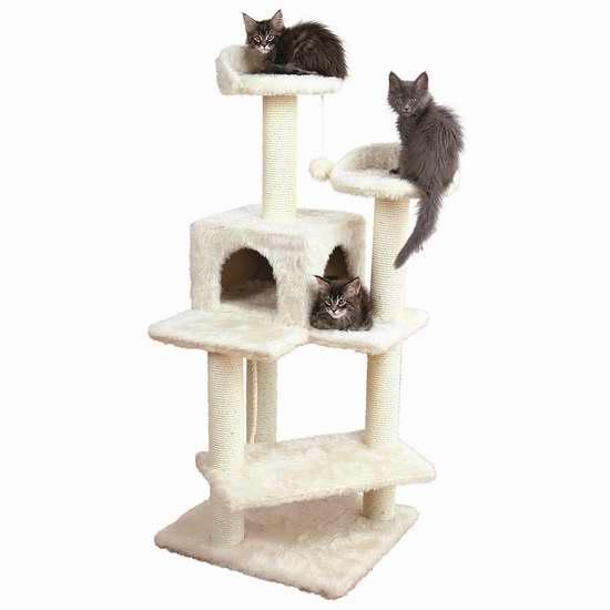 历史新低!Trixie Pet Products Simona 1.29米猫树公寓/猫爬架4.6折 94.29加元限时特卖并包邮!