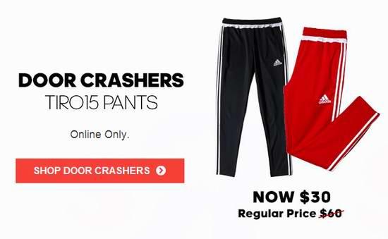 精选多款 Adidas Tiro 15 运动长裤5折起限时抢购,仅售25-30加元!