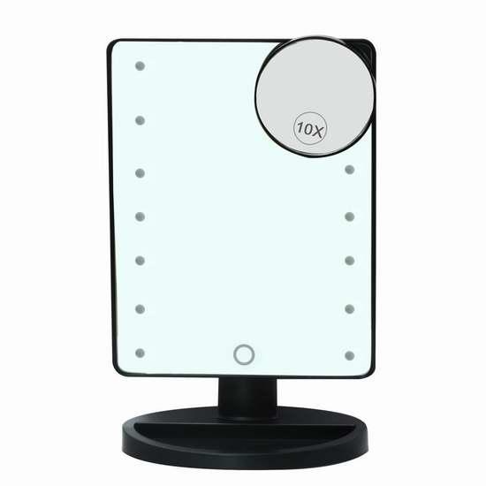 AZALCO 触控式 16 LED 照明10倍放大化妆镜 22.09加元限量特卖!