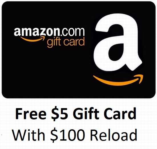 Amazon首次充值100加元,送5加元电子礼品卡!