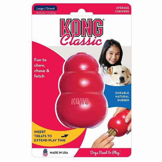 精选121款 Kong 宠物猫狗玩具3折起限时特卖!售价低至2.99加元!