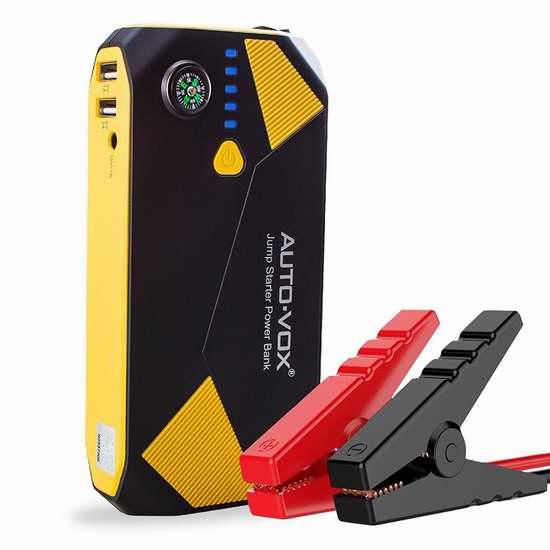 AUTO-VOX P2 14000mAh 500A 便携式移动电源/充电宝/手电筒/汽车电瓶紧急启动电源 64.59加元限量特卖并包邮!