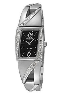 历史新低!Seiko 日本精工 SUP245 女士太阳能 施华洛世奇水晶腕表/手表4.7折 124.14加元限时特卖并包邮!