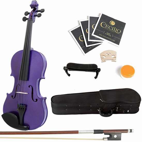 历史新低!美亚热销款 Mendini 3/4 MV-Purple 儿童实木小提琴套装 53.35加元限时特卖并包邮!