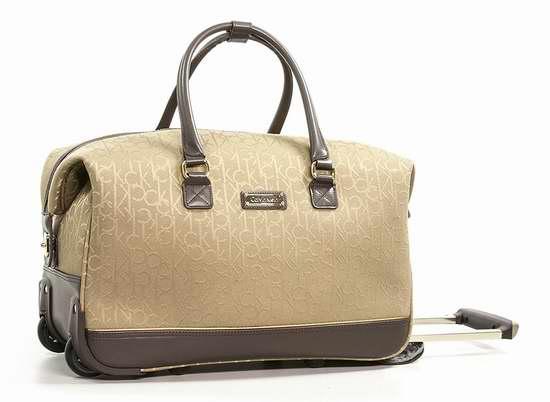 历史新低!Calvin Klein Nolita 2.0 时尚CK印花手提拉杆旅行包2.8折 51.83加元限时清仓并包邮!