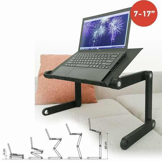 Tatkraft 时尚便携式笔记本电脑桌/床上托架 30.55加元限量特卖并包邮!