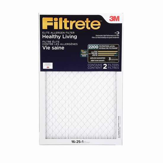 金盒头条:精选6款 Filtrete 家庭空调暖气炉过滤网限时特卖!