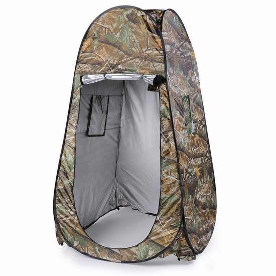 OUTAD 便携弹出式私密帐篷/更衣室/淋浴室/厕所 33.99加元限量特卖并包邮!
