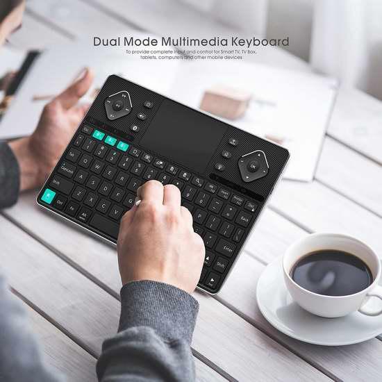 2017最新款 Rii K16 无线蓝牙双模背光键盘 84.99加元限量特卖并包邮!