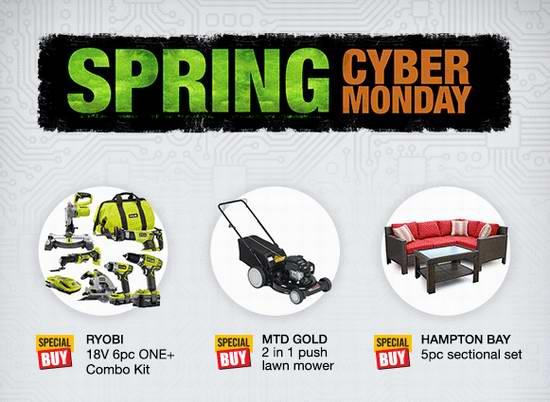 Home Depot 春季网购星期一,精选715款各类商品限时特卖并包邮!