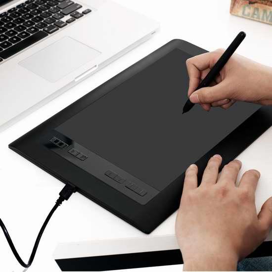 Ugee 友基 HK1060 Pro 专业数位手绘板/手写板/绘图板 49.99加元限量特卖并包邮!