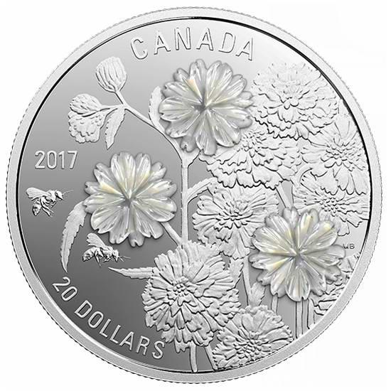 珍珠贝母花纯银纪念币 119.95加元销售并包邮!